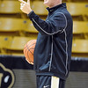 """University of Colorado men's coach, Tad Boyle, during media day practice on October 18, 2012.<br /> For more photos and videos of media day, go to  <a href=""""http://www.dailycamera.com"""">http://www.dailycamera.com</a>.<br /> Cliff Grassmick / October 18, 2012"""