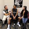 "University of Colorado player, Spencer Dinwiddie, talks to reporters,  during media day  on October 18, 2012.<br /> For more photos and videos of media day, go to  <a href=""http://www.dailycamera.com"">http://www.dailycamera.com</a>.<br /> Cliff Grassmick / October 18, 2012"