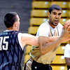 "University of Colorado players, Shane Harris-Tunks guarding Josh Scott,  during media day practice on October 18, 2012.<br /> For more photos and videos of media day, go to  <a href=""http://www.dailycamera.com"">http://www.dailycamera.com</a>.<br /> Cliff Grassmick / October 18, 2012"