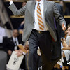 CU coach Tad Boyle works against Cal during the first half of the January 27th, 2013 game in Boulder.<br /> Cliff Grassmick / January 27, 2013