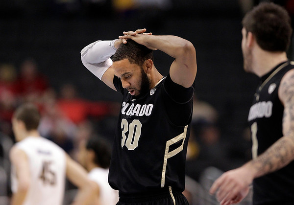 P12 Colorado California(9).JPG Colorado's Carlon Brown walks off the court during the first half of an NCAA college basketball game against California in the semifinals of the Pac-12 conference championship in Los Angeles, Friday, March 9, 2012. (AP Photo/Jae C. Hong)