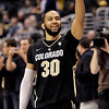 P12 Colorado California(5).JPG Colorado's Carlon Brown celebrates his team's 70-59 win against California after an NCAA college basketball game in the semifinals of the Pac-12 conference championship in Los Angeles, Friday, March 9, 2012. Colorado won 70-59. (AP Photo/Jae C. Hong)