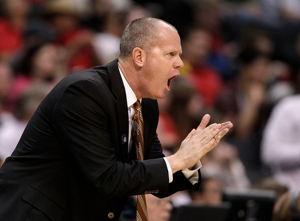 P12 Colorado California(8).JPG Colorado head coach Tad Boyle directs his team during the first half of an NCAA college basketball game against California in the semifinals of the Pac-12 conference championship in Los Angeles, Friday, March 9, 2012. (AP Photo/Jae C. Hong)