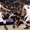 P12 Colorado California(3).JPG Colorado's Carlon Brown, center, is defended by California's Justin Cobbs, left, and Robert Thurman during the second half of an NCAA college basketball game in the semifinals of the Pac-12 conference championship in Los Angeles, Friday, March 9, 2012. Colorado won 70-59. (AP Photo/Jae C. Hong)