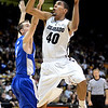 "Josh Scott of Colorado shoots over Mike Fitzgerald of Air Force during the first half of the game in Boulder, Colorado, on November 25, 2012.<br /> For more photos of the game, go to  <a href=""http://www.dailycamera.com"">http://www.dailycamera.com</a>.<br /> Cliff Grassmick / November 25, 2012"