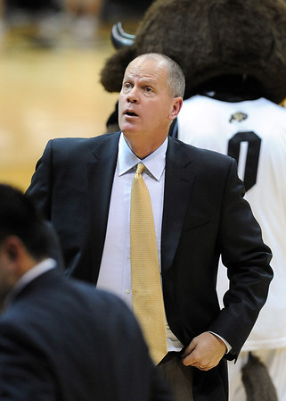 CU head coach Tad Boyle during the Air Force game.<br /> <br /> Cliff Grassmick / November 25, 2012