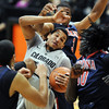 "Andre Roberson of CU comes up with a rebound in a crowd of Arizona players.<br /> For more photos of the game, go to  <a href=""http://www.dailycamera.com"">http://www.dailycamera.com</a>.<br /> Cliff Grassmick / February 14, 2013"