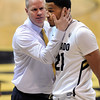 "CU coach Tad Boyle has encouragement for Andre Roberson during the second half of the February 16th, 2013 game in Boulder.<br /> For more photos of the game, go to  <a href=""http://www.dailycamera.com"">http://www.dailycamera.com</a>.<br /> Cliff Grassmick / February 16, 2013"