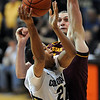 "Andre Roberson tries to score on Jordan Bachynski of ASU during the second half of the February 16th, 2013 game in Boulder.<br /> For more photos of the game, go to  <a href=""http://www.dailycamera.com"">http://www.dailycamera.com</a>.<br /> Cliff Grassmick / February 16, 2013"