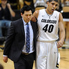 "Josh Scott of CU was injured and did not return to the game. <br /> For more photos of the game, go to  <a href=""http://www.dailycamera.com"">http://www.dailycamera.com</a>.<br /> Cliff Grassmick / February 16, 2013"