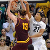 "Jordan Bachynski of Arizona State dunks past Andre Roberson of Colorado during the second half of the February 16th, 2013 game in Boulder.<br /> For more photos of the game, go to  <a href=""http://www.dailycamera.com"">http://www.dailycamera.com</a>.<br /> Cliff Grassmick / February 16, 2013"