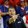 Dayton head basketball coach Archie Miller shouts instructions during second-half action in an NCAA college basketball game against Colorado at the Charleston Classic in Charleston, S.C. , Thursday, Nov. 15, 2012.  (AP Photo/Mic Smith)
