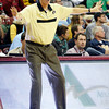 Colorado head coach Tad Boyle yells instructions to his player during an NCAA college basketball game against Murray State at the Charleston Classic at the TD Arena, Sunday Nov. 18, 2012, in Charleston, S.C. (AP Photo/Alice Keeney)
