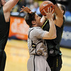 "Beau Gamble drive to the basket against Oregon during the second half of the March 7, 2013 game in Boulder.<br /> For more photos of the game, go to  <a href=""http://www.dailycamera.com"">http://www.dailycamera.com</a>.<br /> Cliff Grassmick / March 7, 2013"