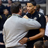 "CU AD Mike Bohn has words for Andre Roberson who was unable to play against Oregon.<br /> For more photos of the game, go to  <a href=""http://www.dailycamera.com"">http://www.dailycamera.com</a>.<br /> Cliff Grassmick / March 7, 2013"