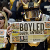"The CU student section has a message for the Ducks during the first half of the March 7, 2013 game in Boulder.<br /> For more photos of the game, go to  <a href=""http://www.dailycamera.com"">http://www.dailycamera.com</a>.<br /> Cliff Grassmick / March 7, 2013"