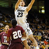 "Sabatino Chen of Colorado drives to the basket over Jabari Peters of Texas Southern during the first half of the December 22, 2011 game in Boulder.<br /> <br /> For more photos of the game, go to  <a href=""http://www.dailycamera.com"">http://www.dailycamera.com</a>.<br /> December 22, 2011 / Cliff Grassmick"