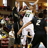 Baylor's Isaiah Austin, center, drives to the basket during the first half of an NCAA college basketball game against Colorado at the Charleston Classic at TD Arena, Friday Nov. 16, 2012, in Charleston, S.C. (AP Photo/Alice Keeney)