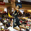 Colorado's Josh Scott drives to the basket during the second half of an NCAA college basketball game against Baylor at the Charleston Classic, Friday Nov. 16, 2012, in Charleston, S.C.  Colorado won 60-58. (AP Photo/Alice Keeney)