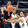 "Askia Booker, right, of Colorado, knocks the ball from Jarrod DuBois of Utahduring the first half of the February 21st, 2013 game in Boulder.<br /> For more photos of the game, go to  <a href=""http://www.dailycamera.com"">http://www.dailycamera.com</a>.<br /> Cliff Grassmick / February 21, 2013"
