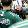 "Colorado State University Head Coach Larry Eustachy yells at his team while in a time-out during a game against the University of Colorado on Wednesday, Dec. 5, at the Coors Event Center on the CU campus in Boulder. CU won 70-61. For more photos of the game go to  <a href=""http://www.dailycamera.com"">http://www.dailycamera.com</a><br /> Jeremy Papasso/ Camera"