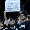"University of Colorado junior Josh Siegel holds a sign up for CSU fans to see during a game against Colorado State University on Wednesday, Dec. 5, at the Coors Event Center on the CU campus in Boulder. CU won 70-61. For more photos of the game go to  <a href=""http://www.dailycamera.com"">http://www.dailycamera.com</a><br /> Jeremy Papasso/ Camera"