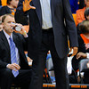 Oregon State head coach Craig Robinson directs his players against Colorado during the second half of an NCAA college basketball game in Corvallis, Ore., Sunday, Feb. 10, 2013. Colorado won 72-68. (AP Photo/Greg Wahl-Stephens)