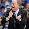 UCLA head coach Ben Howland reacts during the second half of their NCAA college basketball game against the Colorado, Saturday, Jan. 28, 2012, in Los Angeles. UCLA won 77-60. (AP Photo/Mark J. Terrill)