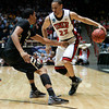 UNLV forward Chace Stanback (22) works against Colorado forward Andre Roberson during the first half of an NCAA men's college basketball tournament second-round game Thursday, March 15, 2012, in Albuquerque, N.M. (AP Photo/Jake Schoellkopf)