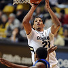 "Andre Roberson of Colorado puts a shot over Andre Jackson of Cal- State Bakersfield during the second half of the December 19, 2011 game in Boulder.<br /> <br /> For more photos of the game, go to  <a href=""http://www.dailycamera.com"">http://www.dailycamera.com</a>.<br /> December 19, 2011 / Cliff Grassmick"