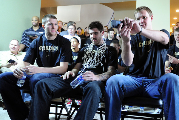 "The University of Colorado Men's basketball team will play UNLV in the first game of the NCAA tournament on Thursday.<br /> For  a video of the Buffs, go to  <a href=""http://www.dailycamera.com"">http://www.dailycamera.com</a>.<br /> Cliff Grassmick / March 11, 2012"