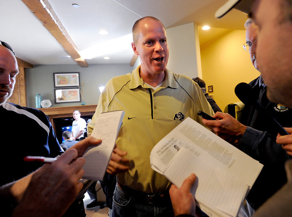 "Tad Boyle answers questions about the UNLV match up.<br /> The University of Colorado Men's basketball team will play UNLV in the first game of the NCAA tournament on Thursday.<br /> For  a video of the Buffs, go to  <a href=""http://www.dailycamera.com"">http://www.dailycamera.com</a>.<br /> Cliff Grassmick / March 11, 2012"
