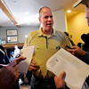 """Tad Boyle answers questions about the UNLV match up.<br /> The University of Colorado Men's basketball team will play UNLV in the first game of the NCAA tournament on Thursday.<br /> For  a video of the Buffs, go to  <a href=""""http://www.dailycamera.com"""">http://www.dailycamera.com</a>.<br /> Cliff Grassmick / March 11, 2012"""