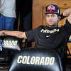 """Askia Booker watches the game before the selection show at Tad Boyle's home.<br /> The University of Colorado Men's basketball team will play UNLV in the first game of the NCAA tournament on Thursday.<br /> For  a video of the Buffs, go to  <a href=""""http://www.dailycamera.com"""">http://www.dailycamera.com</a>.<br /> Cliff Grassmick / March 11, 2012"""