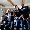 "Austin Dufault, left, Nate Tomlinson, Trey Eckloff, and Carlon Brown, react to their match up with UNLV.<br /> The University of Colorado Men's basketball team will play UNLV in the first game of the NCAA tournament on Thursday.<br /> For  a video of the Buffs, go to  <a href=""http://www.dailycamera.com"">http://www.dailycamera.com</a>.<br /> Cliff Grassmick / March 11, 2012"