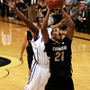 "University of Colorado's Andre Roberson goes for a lay-up in front of Antonio wertz during a game against the University of New Orleans on Wednesday, Dec. 28, at the Coors Event Center on the CU campus in Boulder. For more photos of the game go to  <a href=""http://www.dailycamera.com"">http://www.dailycamera.com</a><br />  Jeremy Papasso/ Camera"