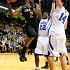 "University of Colorado's Shannon Sharpe looks for a pass during a game against the University of New Orleans on Wednesday, Dec. 28, at the Coors Event Center on the CU campus in Boulder. For more photos of the game go to  <a href=""http://www.dailycamera.com"">http://www.dailycamera.com</a><br />  Jeremy Papasso/ Camera"