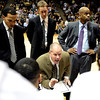 "University of Colorado Head Coach Tad Boyle, center, goes over a game plan during a time-out in a game against Texas Southern on Tuesday, Nov. 27, at the Coors Event Center on the CU campus in Boulder. For more photos of the game go to  <a href=""http://www.dailycamera.com"">http://www.dailycamera.com</a><br /> Jeremy Papasso/ Camera"