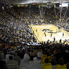 "University of Colorado fans fill the stands during a game against the Wofford Terriers on Friday, Nov. 9, at the Coors Event Center on the CU campus in Boulder. For more photos of the game go to  <a href=""http://www.dailycamera.com"">http://www.dailycamera.com</a><br /> Jeremy Papasso/ Camera"