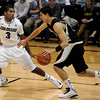 "University of Colorado's Xavier Talton plays defense on Indiana Faithfull during a game against the Wofford Terriers on Friday, Nov. 9, at the Coors Event Center on the CU campus in Boulder. For more photos of the game go to  <a href=""http://www.dailycamera.com"">http://www.dailycamera.com</a><br /> Jeremy Papasso/ Camera"