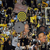 "The CU student section uses multiple visuals to distract the Arizona shooter during the second half of the January 21, 2012 game in Boulder.<br /> For more photos of the game, go to  <a href=""http://www.dailycamera.com"">http://www.dailycamera.com</a>.<br /> January 21, 2012 / Cliff Grassmick"