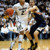 """Andre Roberson of CU gets arond David Kravish of Cal<br /> during the first half of the February 26, 2012 game in Boulder.<br /> For more photos of the game, go to  <a href=""""http://www.dailycamera.com"""">http://www.dailycamera.com</a>.<br /> February 26, 2012 / Cliff Grassmick"""