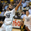 """Carlon Brown of Colorado scores a critical basket against Oregon near the end  of the February 4, 2012 game in Boulder.<br /> For more photos of the game, go to  <a href=""""http://www.dailycamera.com"""">http://www.dailycamera.com</a>.<br /> February 4, 2012 / Cliff Grassmick"""