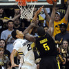 """Andre Roberson of Colorado goes up for the block on Olu Ashaolu of Oregon during the second half of the February 4, 2012 game in Boulder.<br /> For more photos of the game, go to  <a href=""""http://www.dailycamera.com"""">http://www.dailycamera.com</a>.<br /> February 4, 2012 / Cliff Grassmick"""