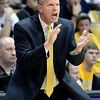 "University of Colorado Head Coach Tad Boyle tries to get his team pumped up during a game against Stanford on Thursday, Jan. 24, at the Coors Event Center on the CU campus in Boulder. For more photos of the game go to  <a href=""http://www.dailycamera.com"">http://www.dailycamera.com</a><br /> Jeremy Papasso/ Camera"
