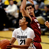"Andre Roberson of CU goes up on Dwight Powell of Stanford during the second half of the January 24th, 2013 game in Boulder.<br /> For more photos of the game, go to  <a href=""http://www.dailycamera.com"">http://www.dailycamera.com</a>.<br /> Cliff Grassmick / January 24, 2013"
