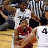 "Chasson Randle of Stanford drives past Jeremy Adams of Colorado during the first half of the January 24th, 2013 game in Boulder.<br /> For more photos of the game, go to  <a href=""http://www.dailycamera.com"">http://www.dailycamera.com</a>.<br /> Cliff Grassmick / January 24, 2013"