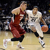"University of Colorado's Andre Roberson dribbles past Dwight Powell during a game against Stanford on Thursday, Jan. 24, at the Coors Event Center on the CU campus in Boulder. For more photos of the game go to  <a href=""http://www.dailycamera.com"">http://www.dailycamera.com</a><br /> Jeremy Papasso/ Camera"