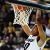 "University of Colorado's Josh Scott dunks the ball during a game against Stanford on Thursday, Jan. 24, at the Coors Event Center on the CU campus in Boulder. For more photos of the game go to  <a href=""http://www.dailycamera.com"">http://www.dailycamera.com</a><br /> Jeremy Papasso/ Camera"