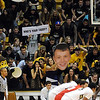"The CU fans show there creative side during a Utah free throw<br /> during the second half of the December 31, 2001 game in Boulder.<br /> For more photos of the game, go to  <a href=""http://www.dailycamera.com"">http://www.dailycamera.com</a>.<br /> December 31, 2011 / Cliff Grassmick"